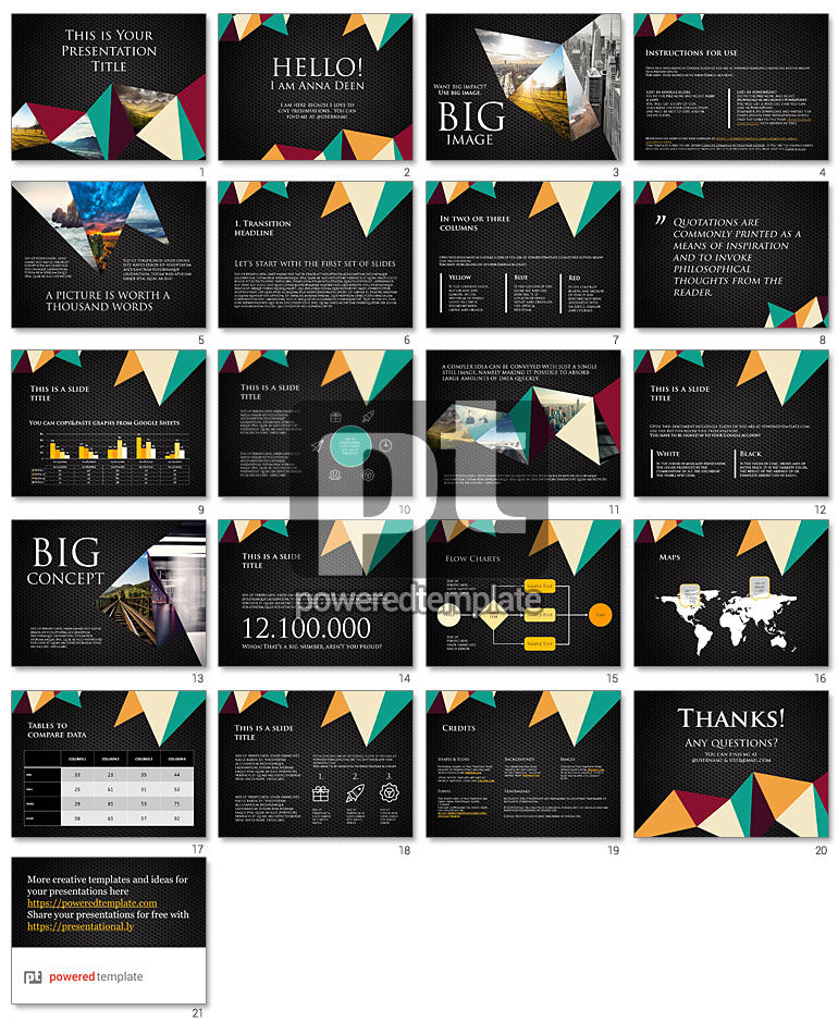Polygonal Free Google Slides Presentation Template