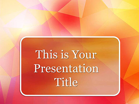 : Faceted Free Google Slides Presentation Template #00015