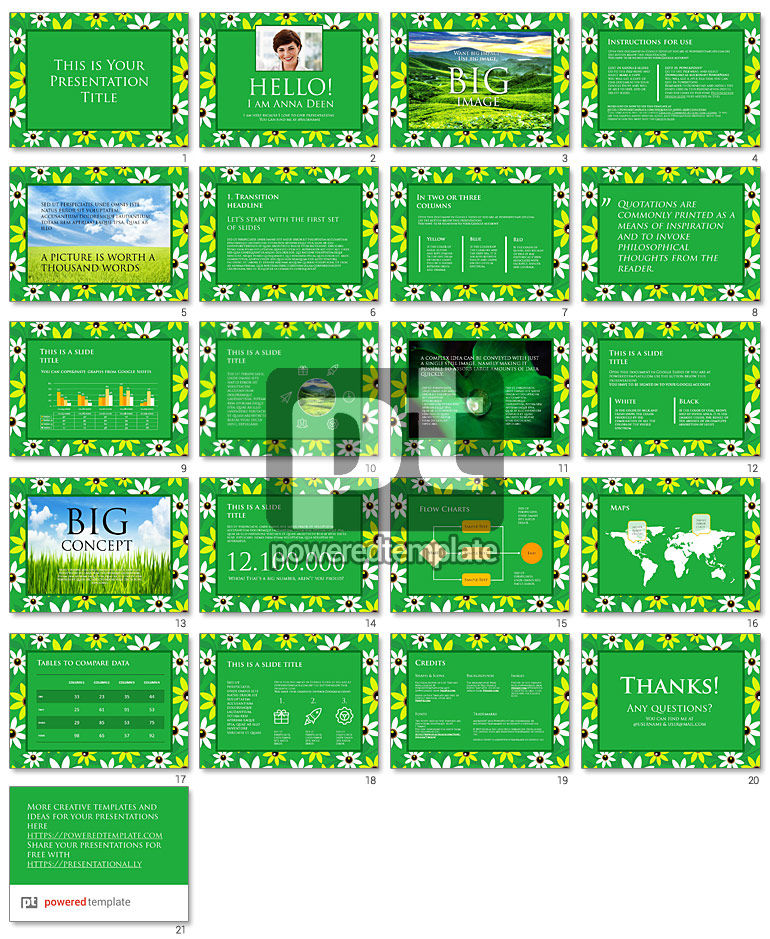 Chamomile Field Free Google Slides Template