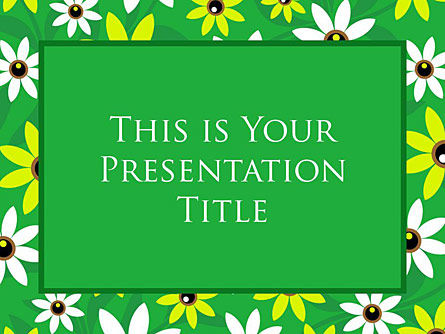 : Chamomile Field Free Google Slides Template #00016