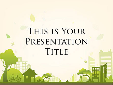 : Green City Free Google Slides Presentation Template #00020