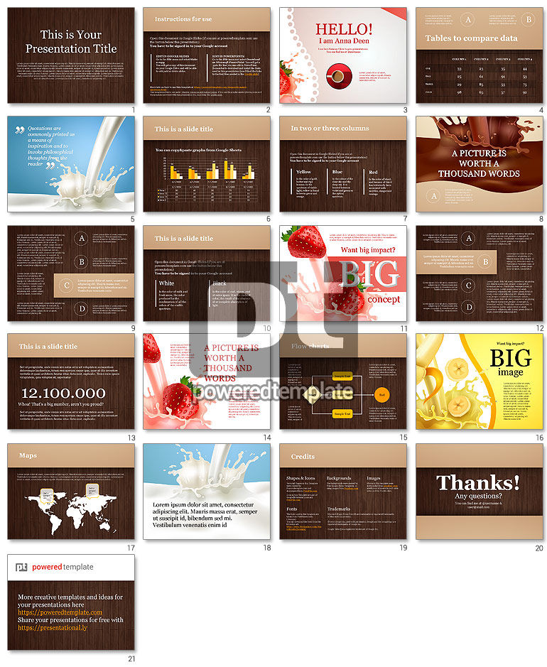 Chocolate Theme Google Slides Template