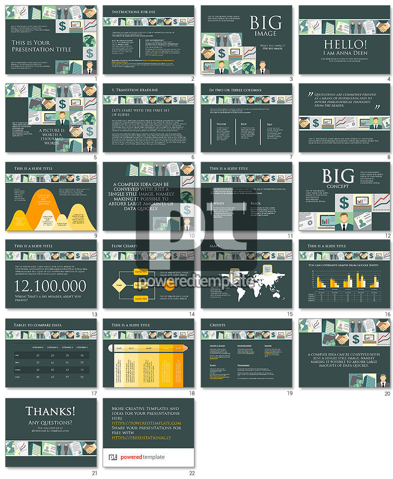 Financial Google Slides Theme Free Template