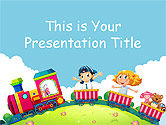 : Toy Train Free Google Slides Theme Template #00030