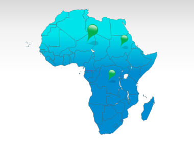 Africa PowerPoint Map, 00001, Africa — PoweredTemplate.com