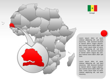 Africa PowerPoint Map Slide 14