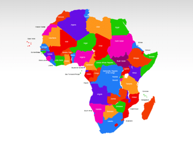 Africa PowerPoint Map, Slide 2, 00001, Africa — PoweredTemplate.com