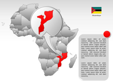 Africa PowerPoint Map Slide 45