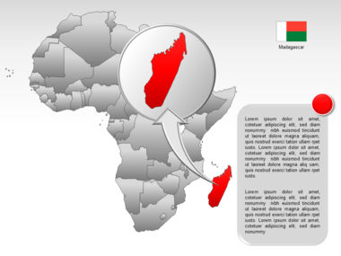 Africa PowerPoint Map Slide 47