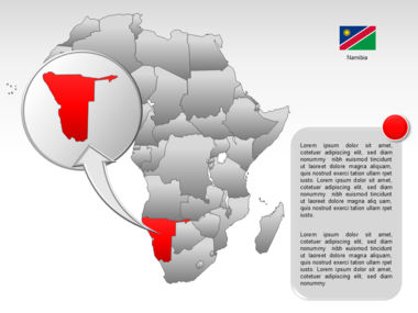 Africa PowerPoint Map Slide 52