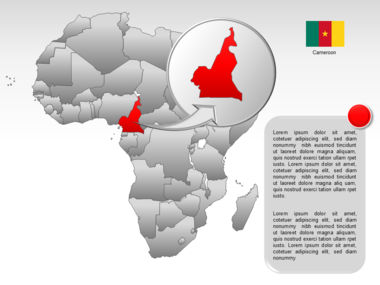 Africa PowerPoint Map Slide 57
