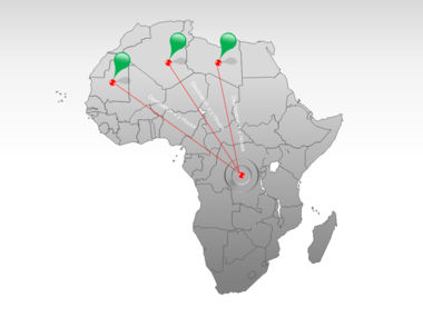 Africa PowerPoint Map Slide 7