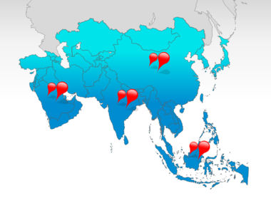Asia: Asia PowerPoint Map #00002