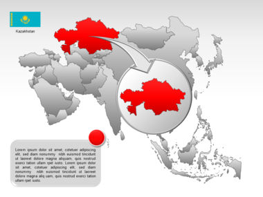 Asia PowerPoint Map Slide 26