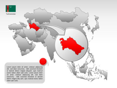 Asia PowerPoint Map Slide 28