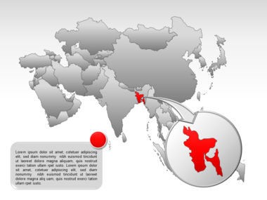 Asia PowerPoint Map Slide 36