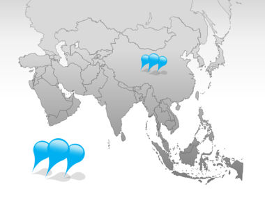 Asia PowerPoint Map, Slide 4, 00002, Asia — PoweredTemplate.com