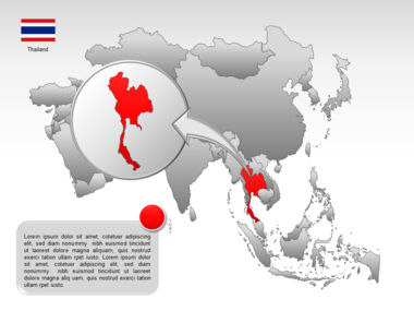 Asia PowerPoint Map Slide 43