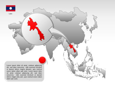Asia PowerPoint Map Slide 44