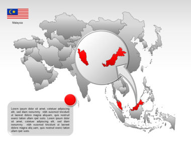 Asia PowerPoint Map Slide 47