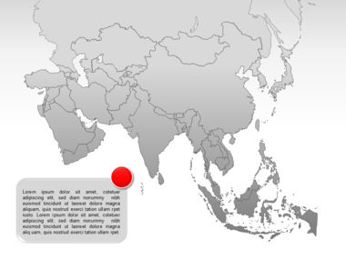 Asia PowerPoint Map Slide 8