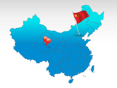 China: Mapa de China PowerPoint #00003