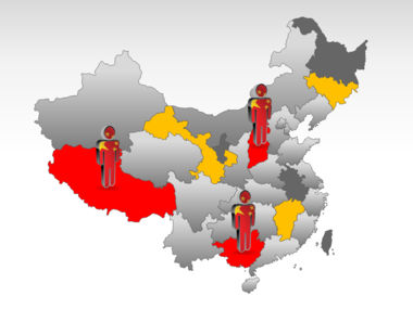 China PowerPoint Map Slide 11
