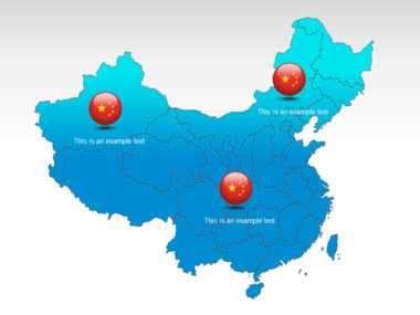 China PowerPoint Map Slide 12