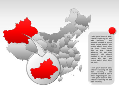 China PowerPoint Map Slide 13