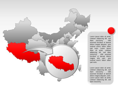 China PowerPoint Map Slide 14