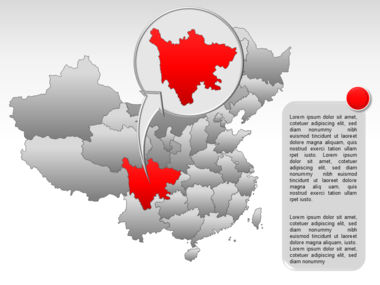 China PowerPoint Map Slide 17