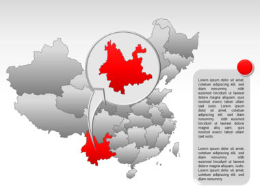 China PowerPoint Map Slide 18