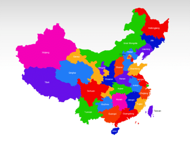 China PowerPoint Map Slide 2