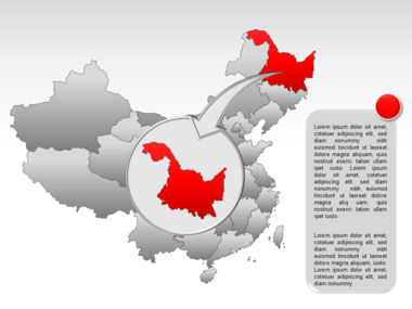 China PowerPoint Map Slide 20