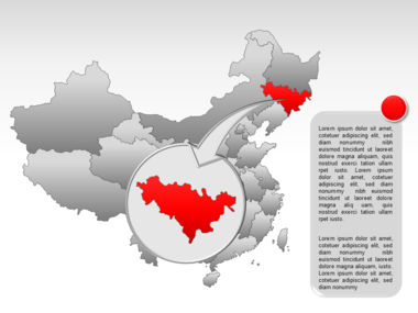 China PowerPoint Map Slide 21