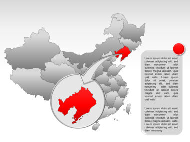 China PowerPoint Map Slide 22