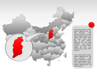 China PowerPoint Map Slide 24