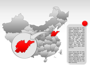 China PowerPoint Map Slide 25