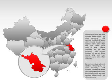 China PowerPoint Map Slide 26