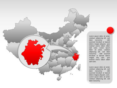 China PowerPoint Map Slide 27