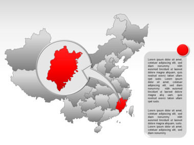 China PowerPoint Map Slide 28
