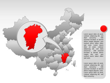 China PowerPoint Map Slide 29