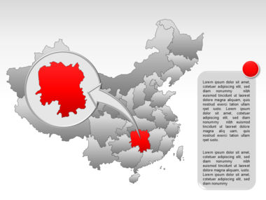 China PowerPoint Map Slide 30