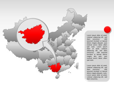 China PowerPoint Map Slide 32