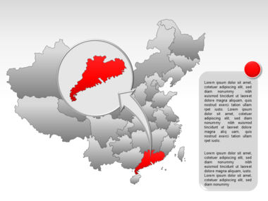 China PowerPoint Map Slide 33