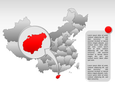 China PowerPoint Map Slide 35