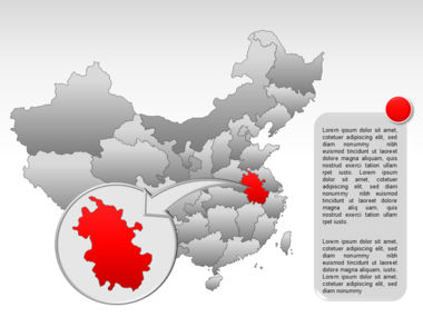 China PowerPoint Map Slide 36