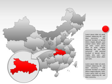 China PowerPoint Map Slide 38