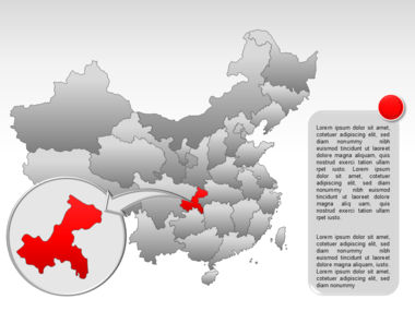 China PowerPoint Map Slide 39