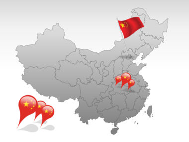 China PowerPoint Map Slide 4